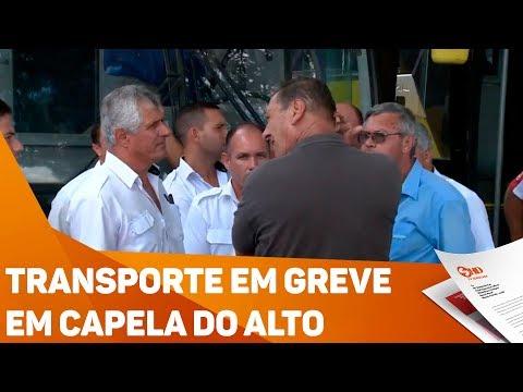 Transporte em greve em Capela do Alto - TV SOROCABA/SBT