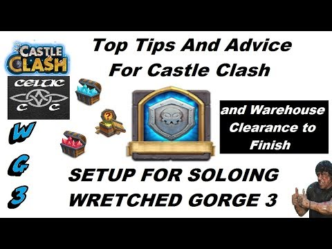 How To Solo Wretched Gorge 3, Tips And Guide (warehouse Clearance As Well) Castle Clash CC