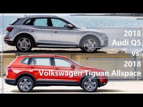 2018 Audi Q5 vs 2018 Volkswagen Tiguan Allspace (technical comparison)