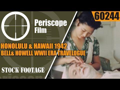 HONOLULU & HAWAII  1942  BELL& HOWELL WWII ERA TRAVELOGUE MOVIE  60244
