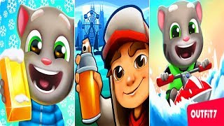 Subway Surfers vs Talking Tom Gold Run - Talking Tom Jetski 2 ipad Gameplay 2018