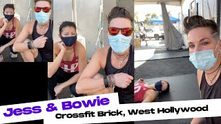 We hit Crossfit Brick, West Hollywood - VLOG it's hard to workout in a mask!