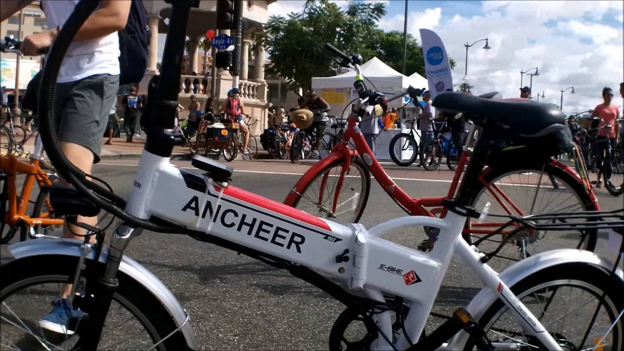 Ancheer Electric Bike At Ciclavia Oct 16 2016 Youtube