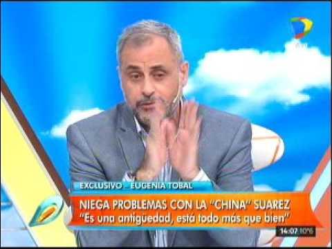 Eugenia Tobal no tiene conflictos con La China por Cabré