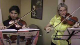 "Violin Teacher ""Gena"" perfoms with her student"
