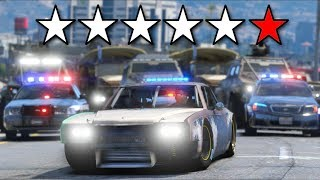 Losing Six Star Wanted Level... Things got CRAZY!! (GTA 5 Mods - Evade Gameplay)
