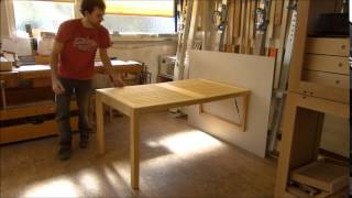 Folding Table For Small Balconies Etc.