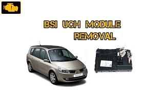 BSI UCH 8200412549 N3 Module Removal Scenic II Megane 2 / Demontaż sterownika BSI UCH N3
