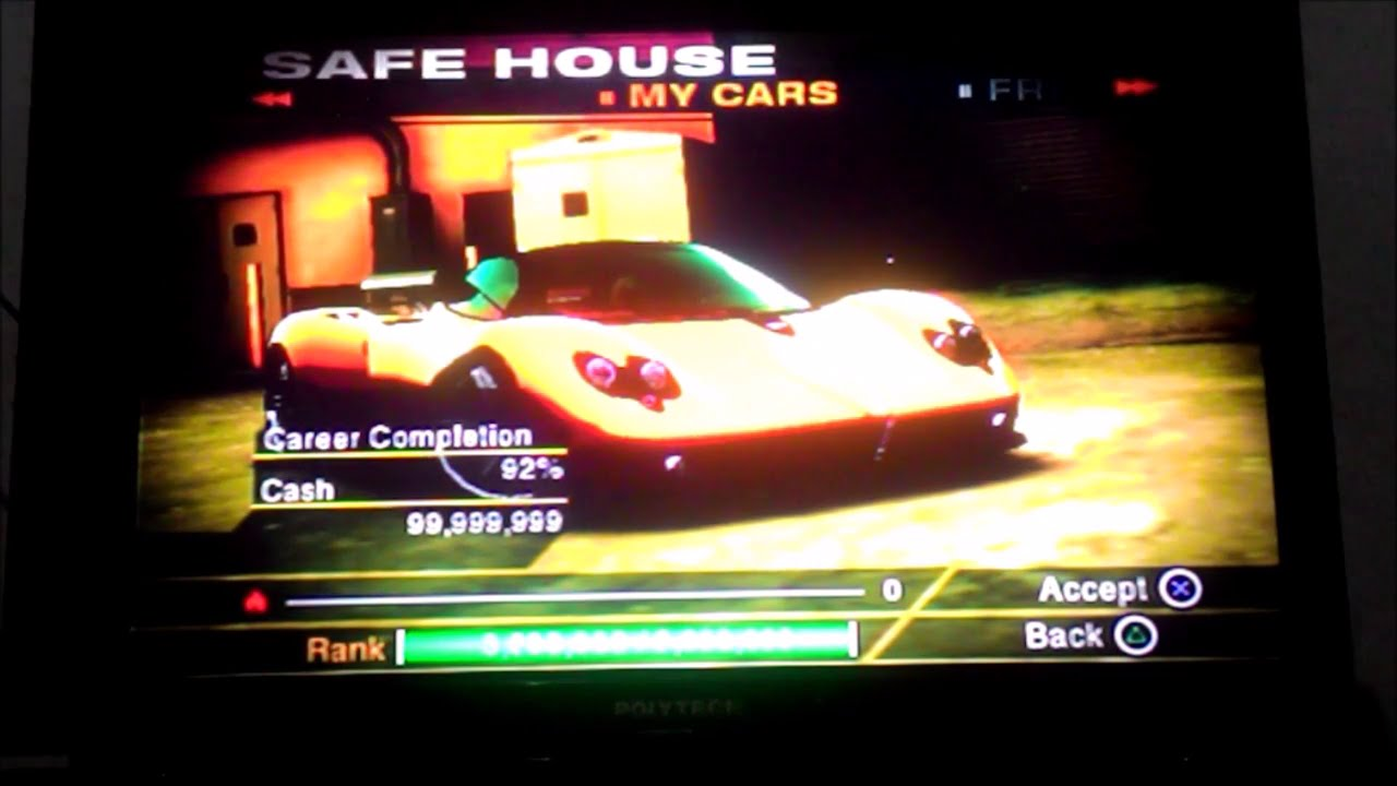 cheat nfs undercover ps2 unlock all cars