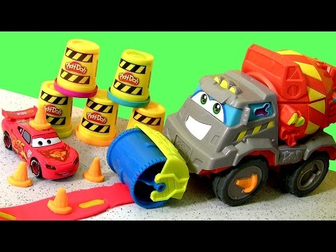 Play Doh Max The Cement Mixer Truck - Play Dough Camión Mezclador De Cemento - Pâte à Modeler