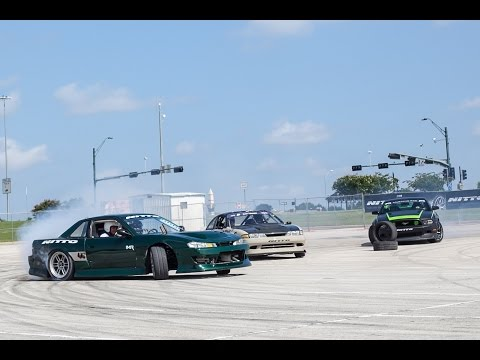 Triple Tandem 360 Virtual Reality Drifting at 2016 Auto Enthusiast Day Texas
