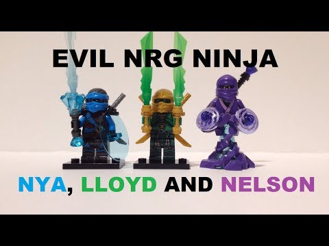 LEGO NINJAGO CUSTOM EVIL NRG NINJA PART 2 - NYA, LLOYD AND ...
