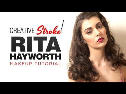 Rita Hayworth (1940s) Makeup Tutorial - YouTube