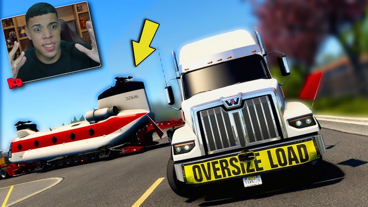 A CARGA MAIS CANSATIVA DE TODAS! ( HELICÓPTERO 15 TONELADAS ) - American Truck Simulator + G920