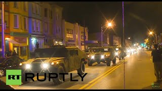 USA: National Guard out in full force in Baltimore