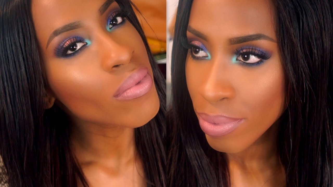 Spring Inspired Date Night/Clubbing Makeup Tutorial For Black Women - YouTube