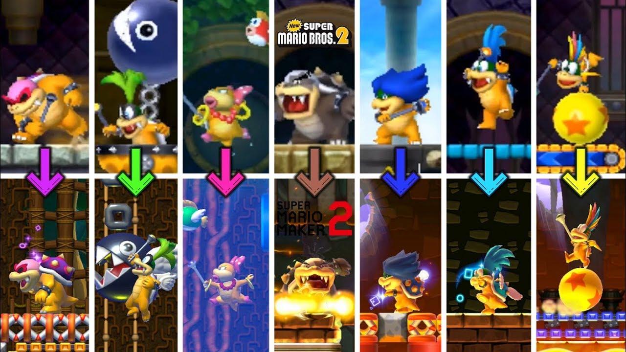 New Super Mario Bros 2 Koopaling Boss Rush In Super Mario Maker 2