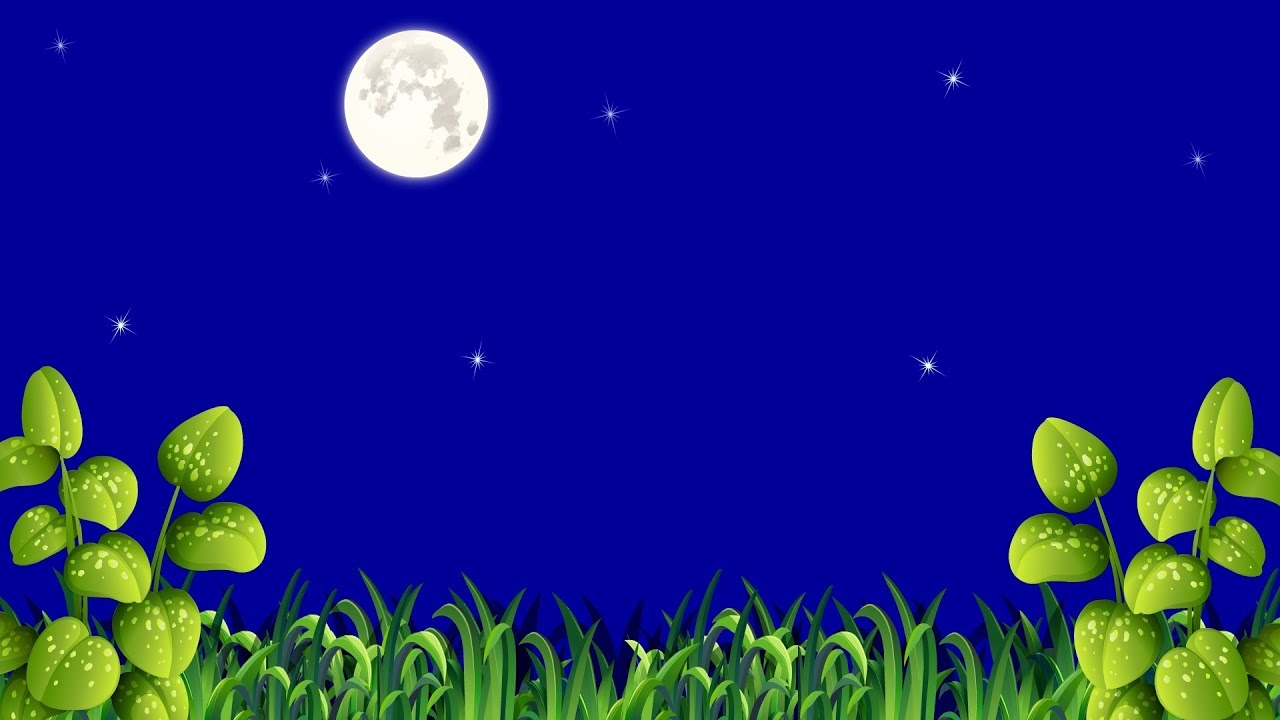Natural Night Moon Vector Background Video Footage Hd Blue Screen By A S Creations Cloud Youtube