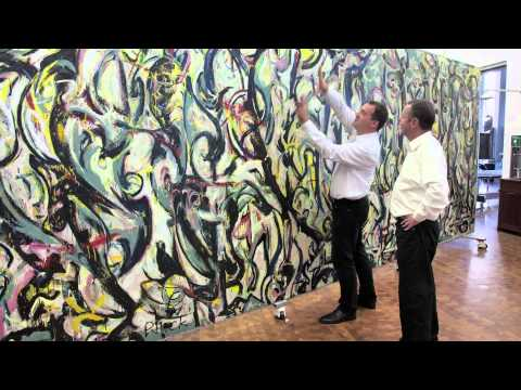 """See The Getty Restore Jackson Pollock's """"Mural"""""""