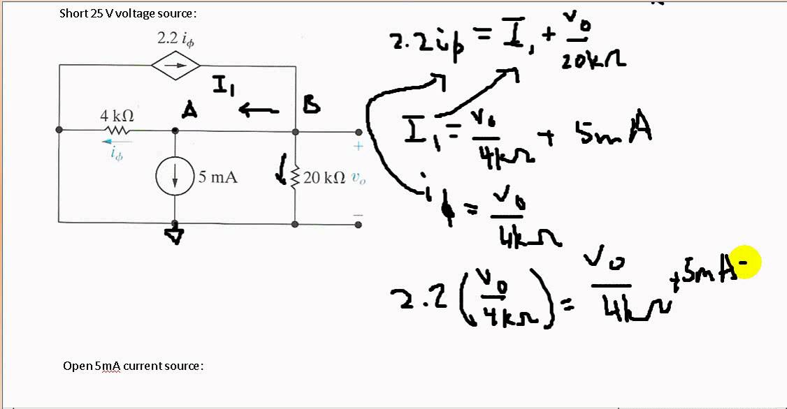 using superposition in circuit analysis