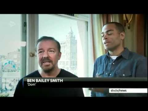 ricky gervais & Ben Bailey smith talking David Brent Life on the Road -STV