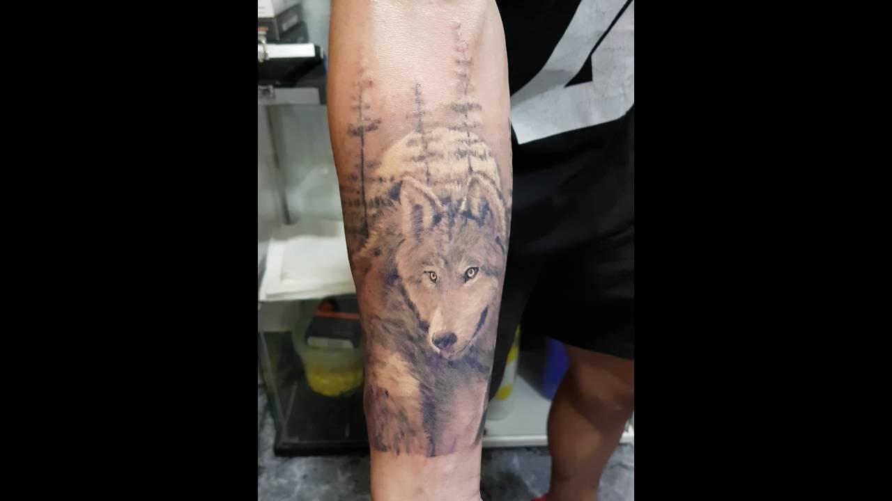 Lobo Luna Llena Y Boske Tattoo Art Youtube