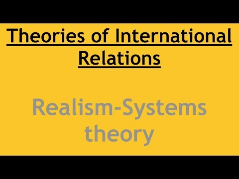 Realism  Neo Realism: Systems Theory