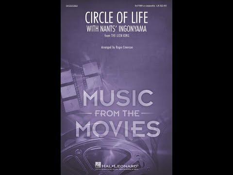 "Circle Of Life W/ ""Nants' Ingonyama"" (The Lion King) (SATBB Choir, A Cappella) - Arr. Roger Emerson"