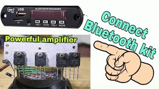 Mini Power Audio Amplifier Circuit Using 4 Transistor add Bluetooth kit