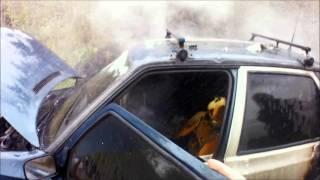 HASIČI PLÁNICE - 1.5.2016 - Požár dopravní prostředky, OA v plamenech