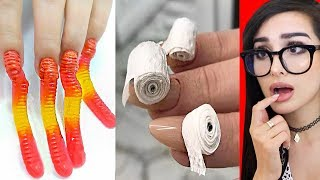 Weirdest NAIL ART that should NOT EXIST 7