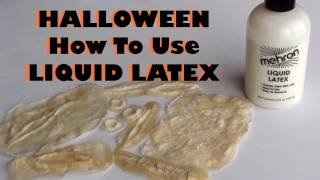 Halloween - Liquid Latex - How to use it & make your own prosthetics