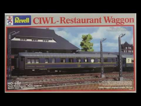 Model Railroad Train Track Plans -Excellent  Revell 1/87 HO CIWL-resturant Wagon Kit# 2181