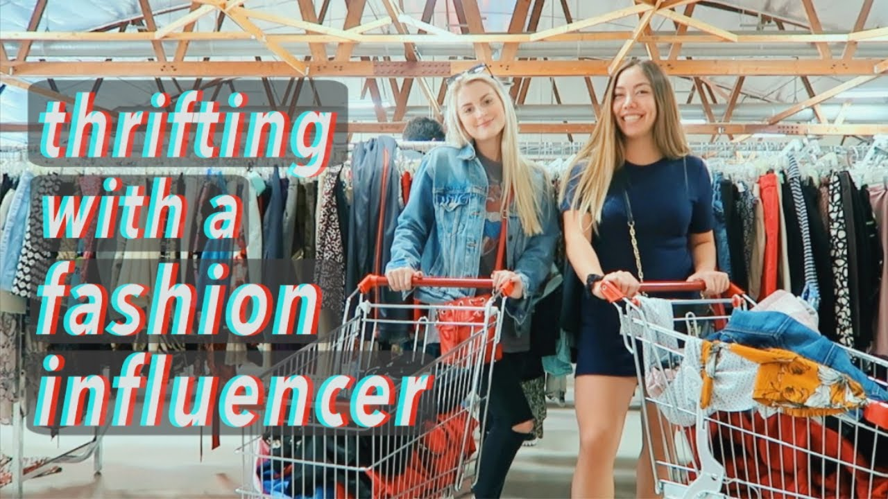 I go thrifting with a fashion influencer + try-on haul!