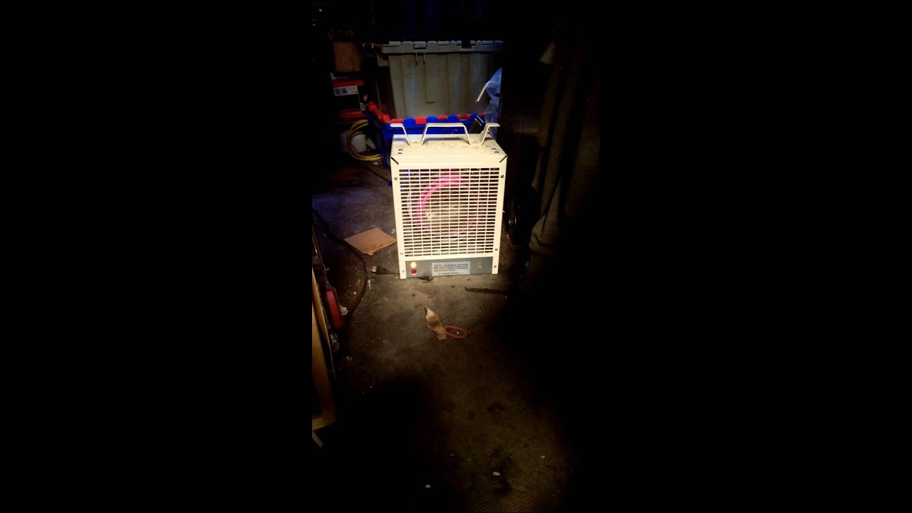 Dimplex 4800 Watt Forced Air Construction Heater Youtube Electric Garage Heaters With Thermostat 1