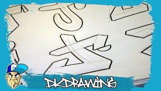 Graffiti Alphabets Letter J - Buchstabe J - Letra J