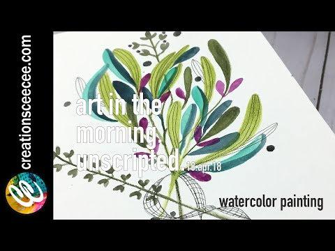 watercolor painting: inktense pencils + doodles