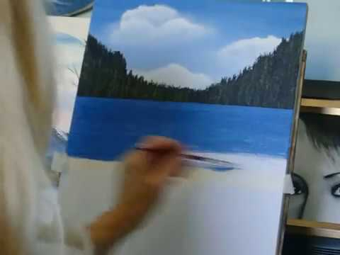 How to paint water, with acrylic paint lesson 4 easy technique for the beginner!