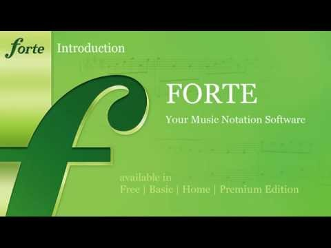 FORTE Notation Software - Introduction to Music Notation