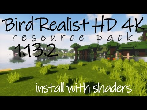 How To Make Minecraft Realistic In 1.13.2 - Download Install Bird Realist HD 4K Texture Pack 1.13.2