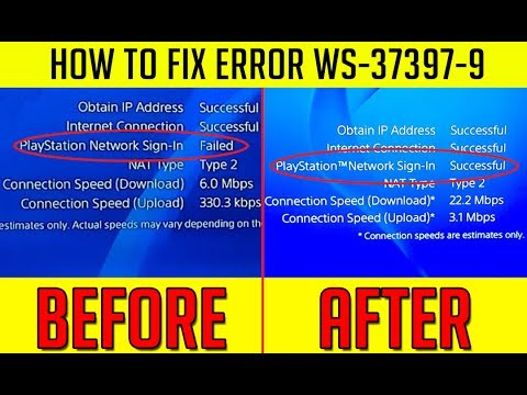 3 EASY WAYS TO FIX WS-37397-9 / SIGN IN FAILED PS4 ERROR CODE  [Working/Simple/Fast]