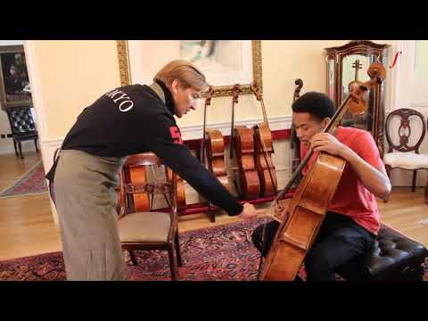 Sheku KannehMason Gets His 400YearOld Amati Cello Serviced  Legendary Luthier Florian Leonhard