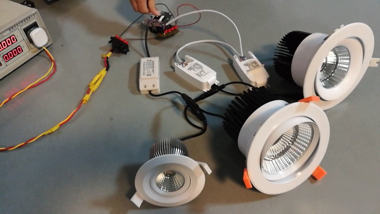 dimmable and flicker free led downlights - YouTube