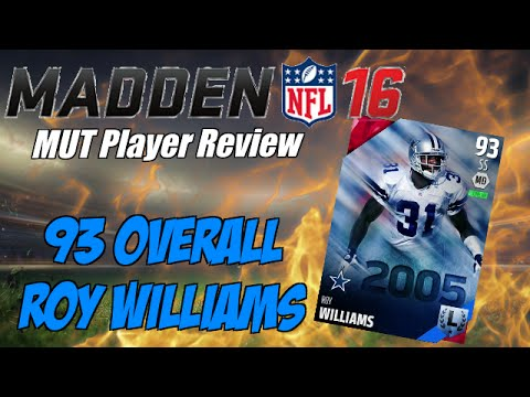 93 Overall Legend Roy Williams | Madden 16 Ultimate Player Review