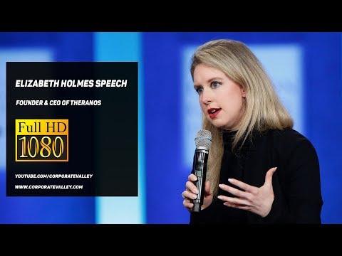 Elizabeth Holmes Inspirational Speech - Founder & CEO of Theranos