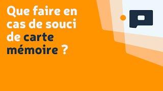 Que faire en cas de souci de carte mémoire ? - Apprendre la Photo.fr