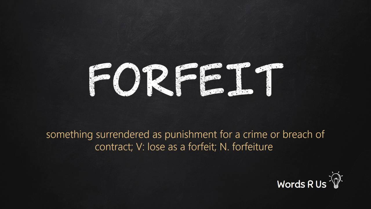 forefit