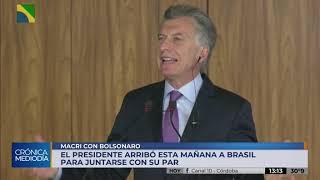 """Macri valoró el encuentro con Bolsonaro: """"Hay que modernizar el Mercosur"""""""