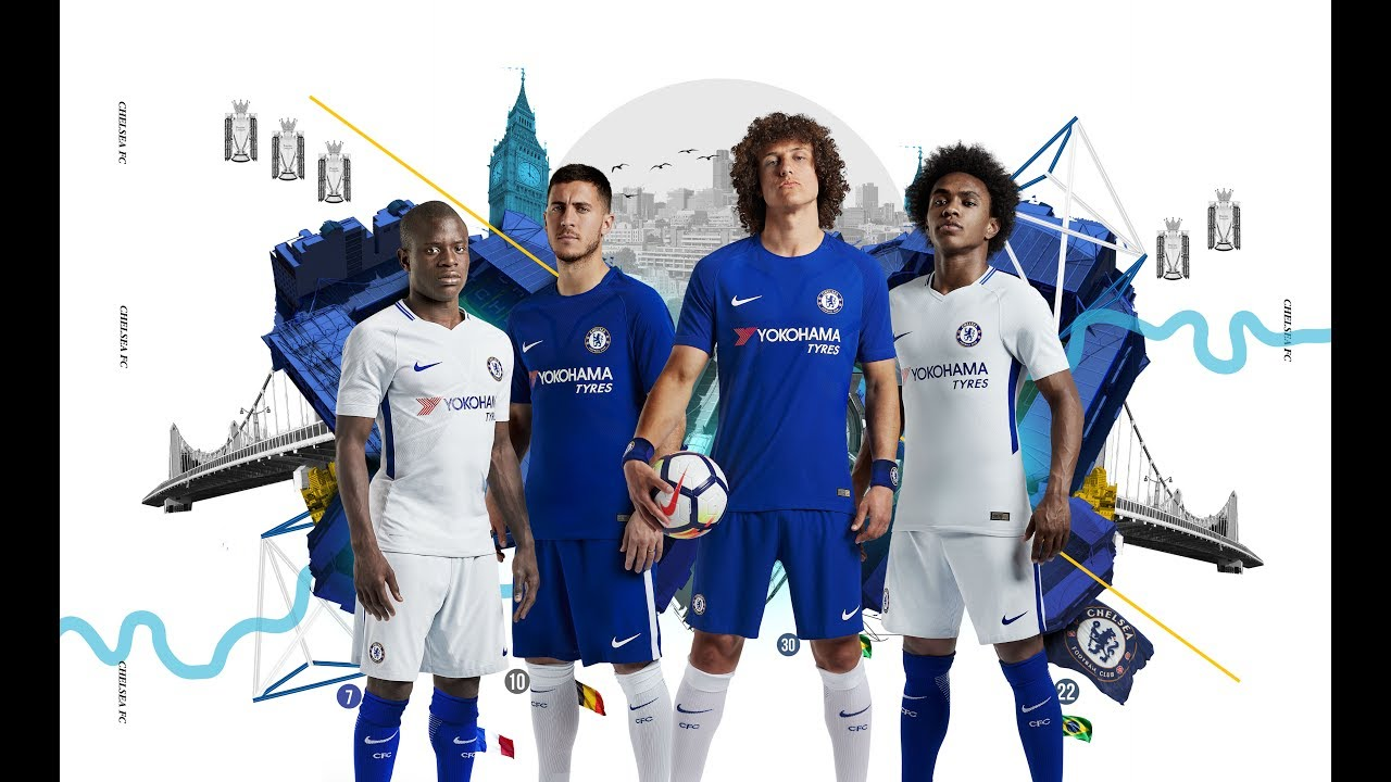 san francisco 7c723 0bd66 Nike Chelsea FC 2017/2018 Home Jersey