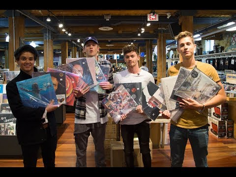 The Vamps Go Record Shopping & You Wouldn't Believe What They Buy | The LP Spree